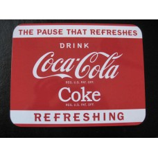 COCA COLA COKE Red Tin Ad Advertising Sign Wall Art Deco@2009 Tray